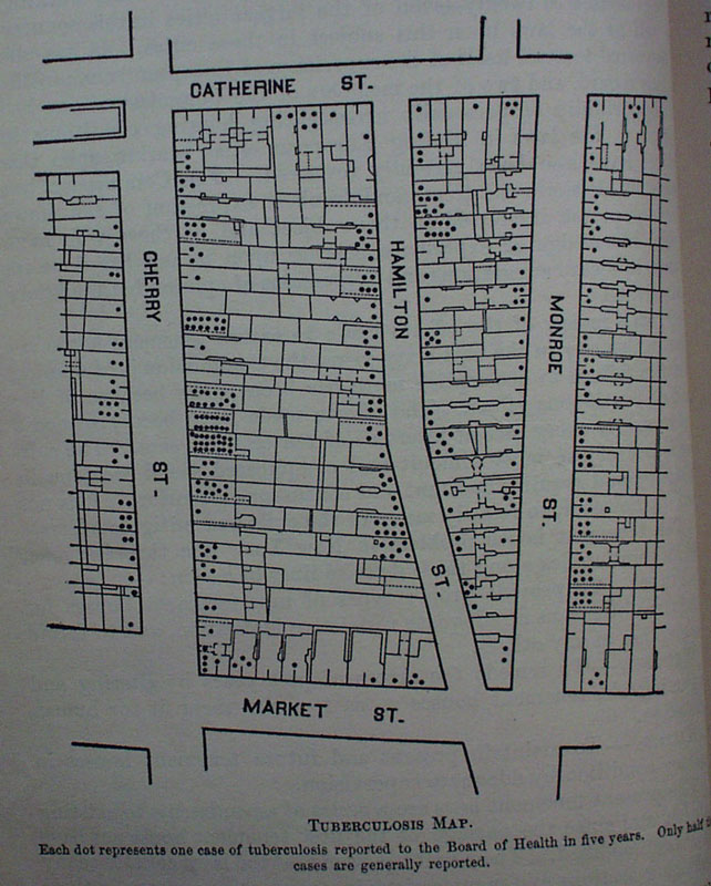 Jacob riis hitting the slums the muckrakers tuberculosis map 1901 represents number of cases of tuberculosis reported the living city museum new york malvernweather Gallery